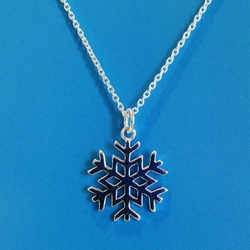 Snow Flake Necklace Sterling Silver U.P. pendant, Marquette, lake superior, upper peninsula, michigan, handcrafted
